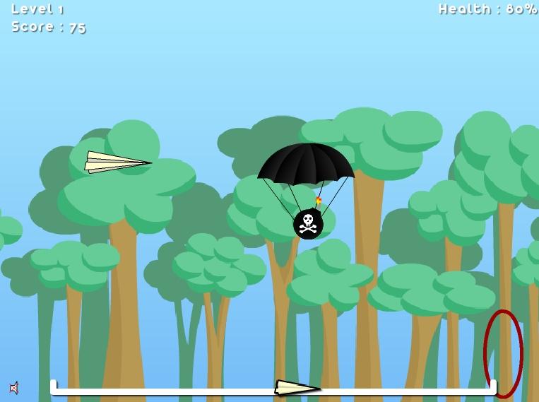 Игра Бумажный самолетик онлайн