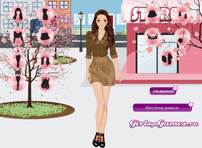 Игра Весенняя одевалка онлайн