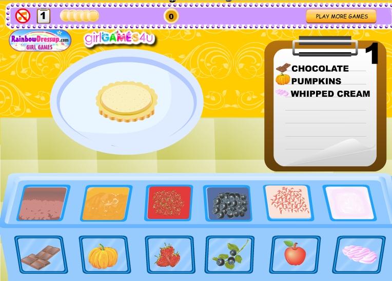 Игра Готовим пирог онлайн