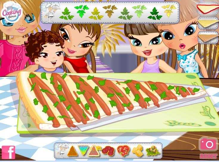 Игра Готовим пиццу онлайн