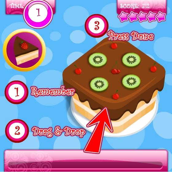 Игра Готовим торт онлайн