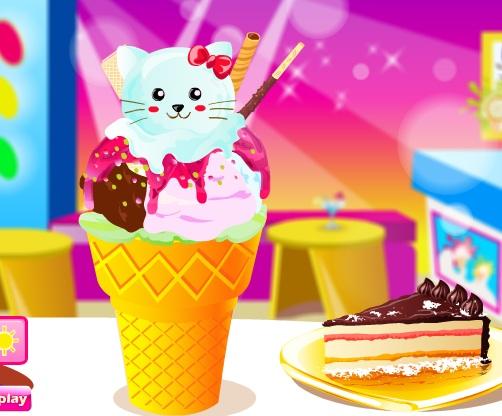 Игра Делаем мороженое онлайн