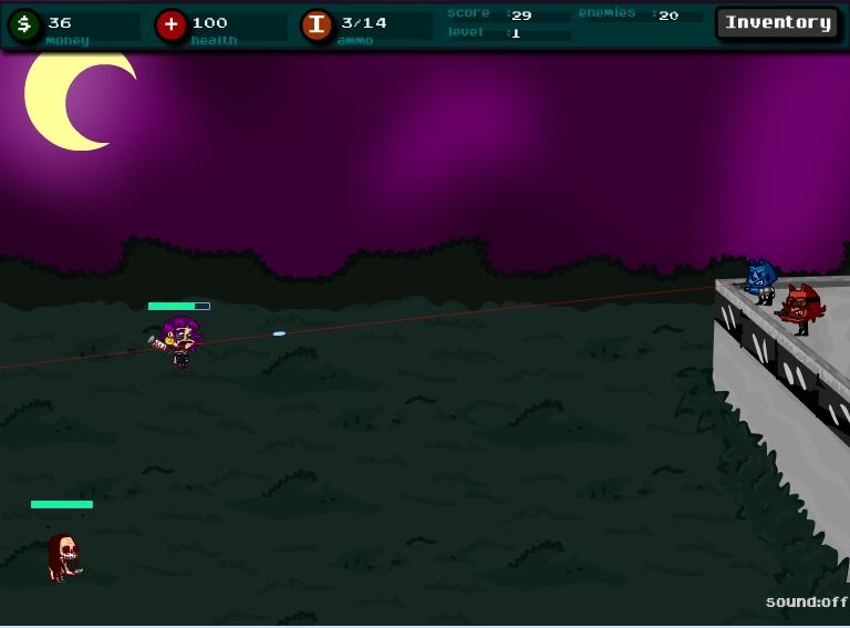 Игра Защита от зомби онлайн
