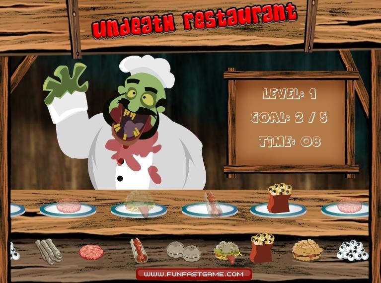 Игра Зомби ресторан онлайн