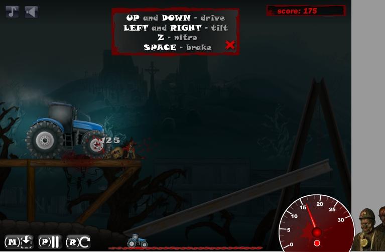 Игра Зомби трактор онлайн