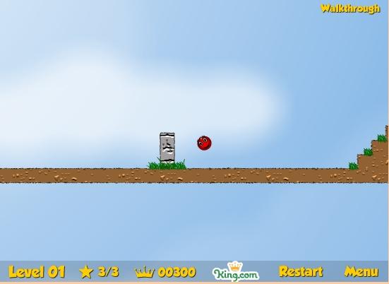 Игра Красный мяч 2 онлайн