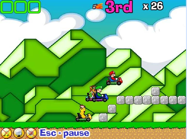 Игра Марио-гонки онлайн