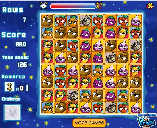Игра Овощи против фруктов онлайн