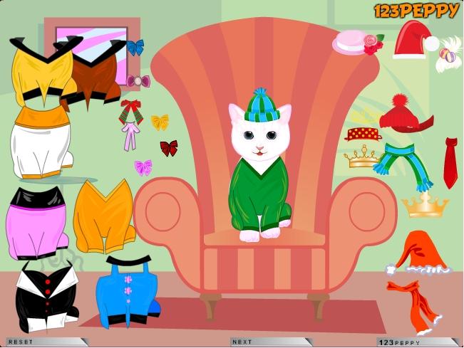 Игра Одеваем кошку онлайн