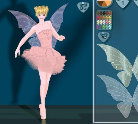 Игра Одевалка балерина онлайн