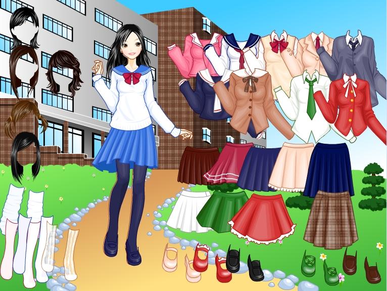 Игра Одевалка школьница онлайн