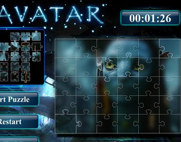 Игра Пазл Аватар онлайн