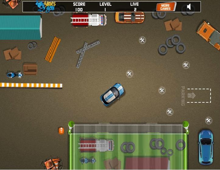 Игра Парковка в гараже онлайн