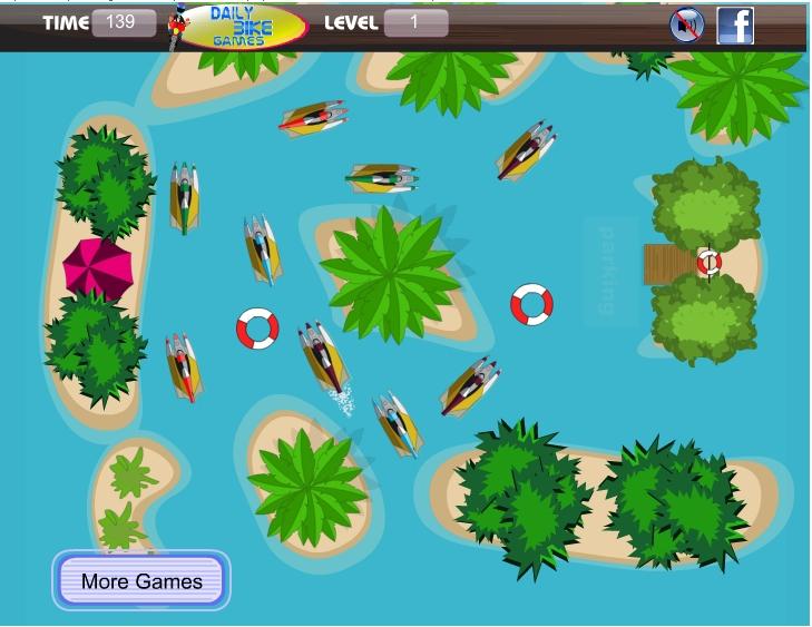 Игра Парковка лодки онлайн
