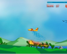 Игра Пожарный самолет онлайн