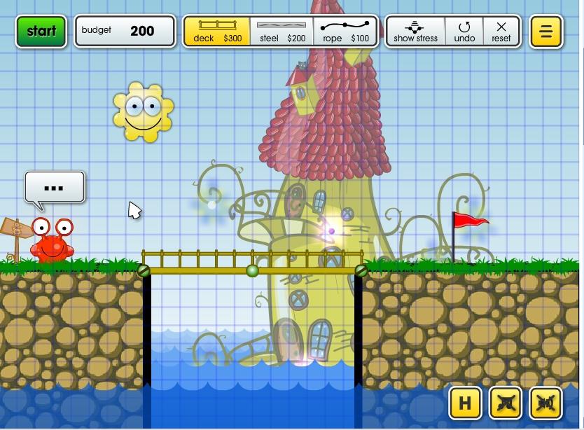 Игра Постройка моста онлайн