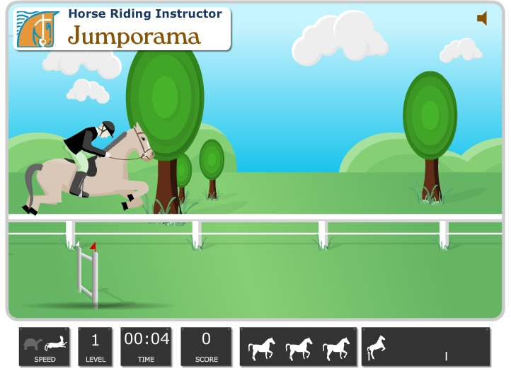 Игра Прыжки на лошади онлайн