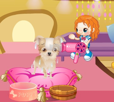 Игра Уход за щенком онлайн