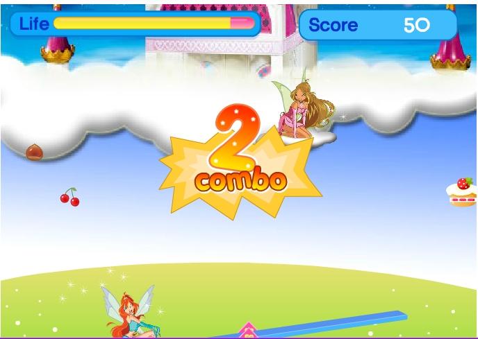 Игра Винкс на облаке - играй онлайн