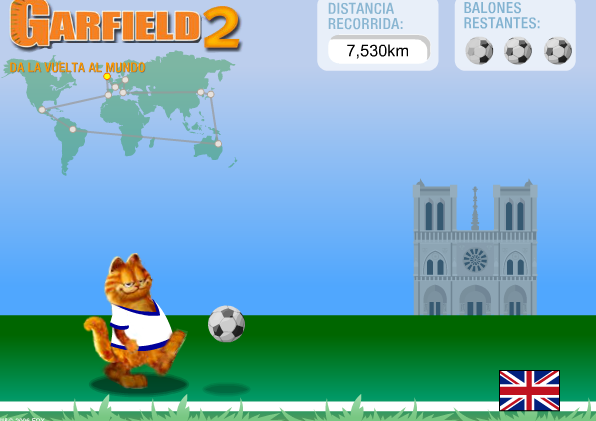 Игра Гарфилд футболист онлайн