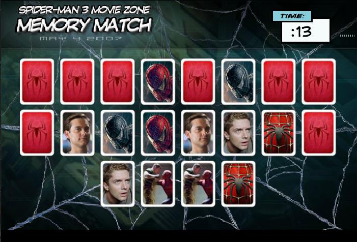 Игра Карточки человек паук онлайн