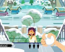 Игра Кидаемся снежками онлайн