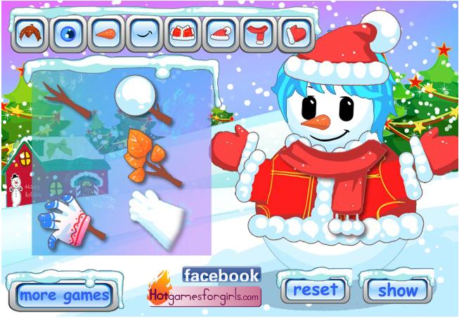играть снеговик онлайн