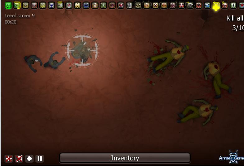 Игра Маленькие зомби онлайн