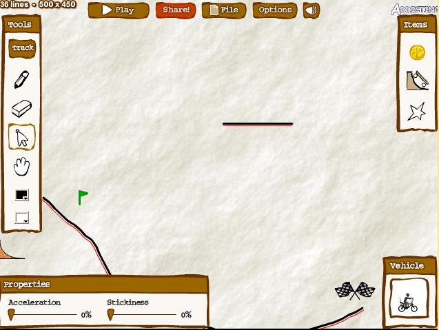 Игра Нарисованные гонки онлайн