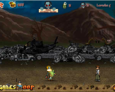 Игра Один против зомби онлайн