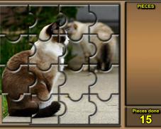 Игра Пазл кошка онлайн