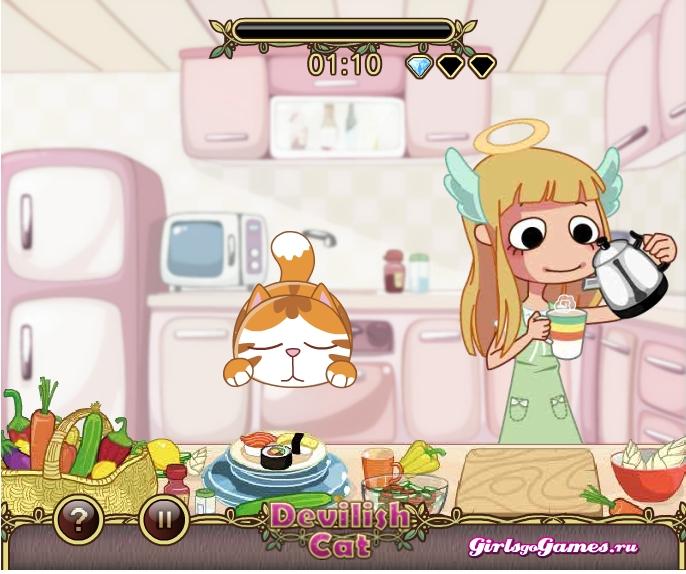 Игра Прожорливый кот онлайн