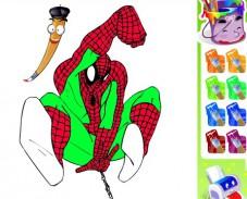 Игра Раскраска человек паук онлайн