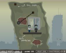 Игра Сбиваем зомби онлайн