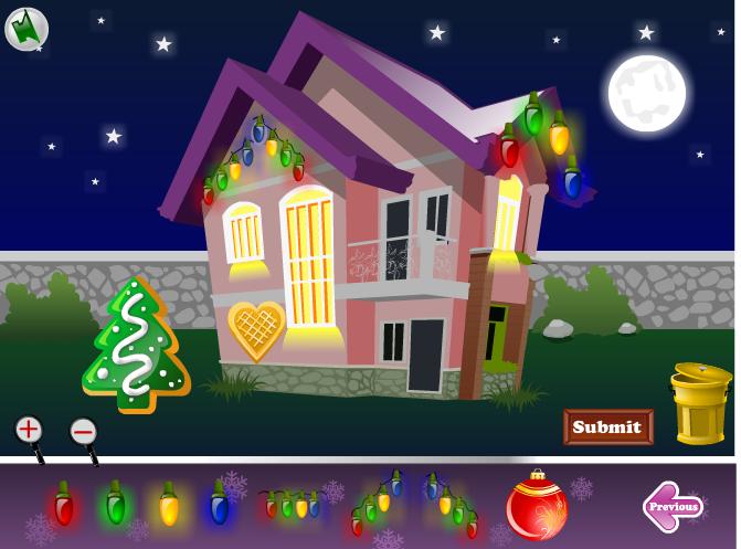 Игра Украшаем дом на новый год онлайн