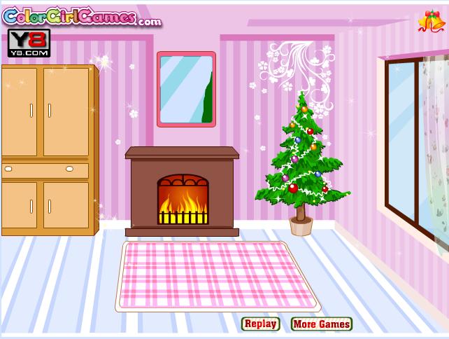 Игра Украшаем комнату на новый год онлайн