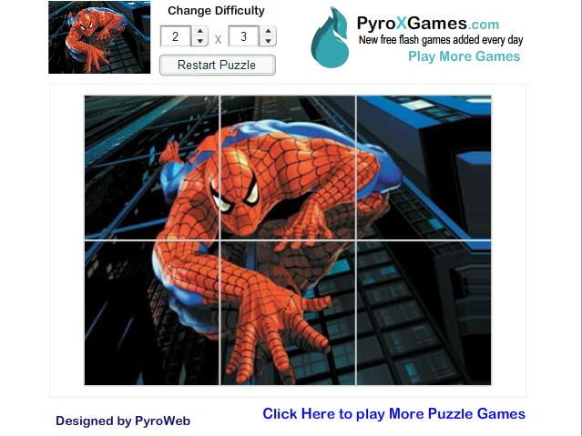 Игра Человек паук пазл онлайн