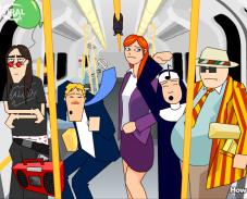 Игра Давка в метро онлайн