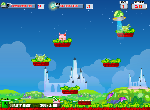 Игра Летающая тарелка - играй онлайн