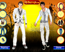 Игра Одевалка Эдварда и Джейкоба онлайн