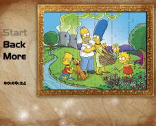 Игра Пазл симпсоны онлайн
