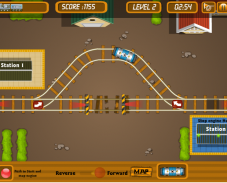 Игра Парковка поезда онлайн