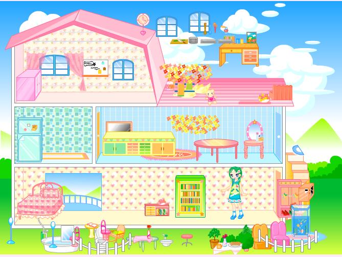 Игра Переделка дома барби - играй онлайн