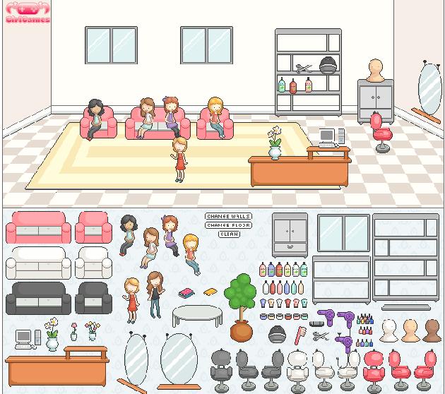 Игра Переделка парикмахерской онлайн