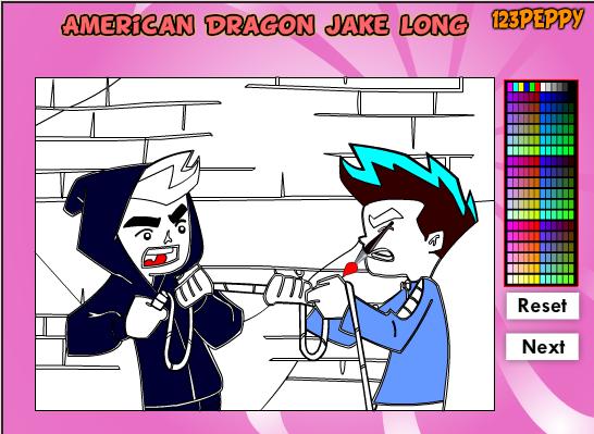 Игра Раскраска Американский дракон - играй онлайн