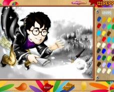 Игра Раскраска Гарри Поттер онлайн