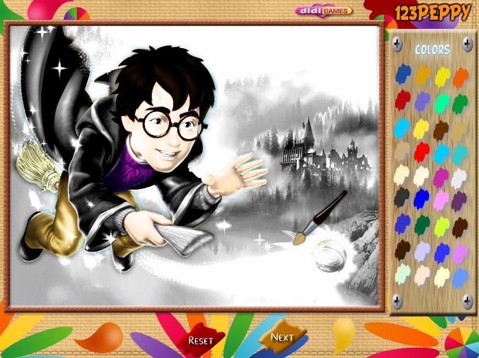 игра раскраска гарри поттер играй онлайн