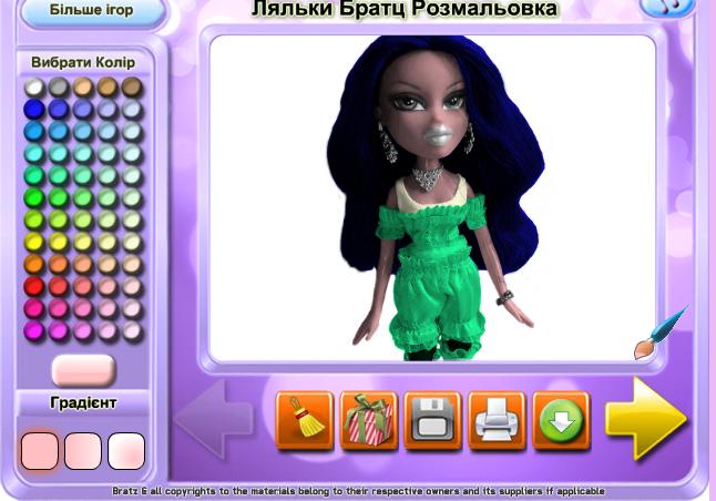 Игра Раскраска кукла - играй онлайн
