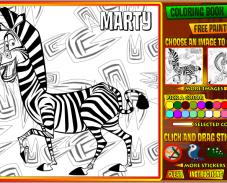 Игра Раскраска мадагаскар онлайн