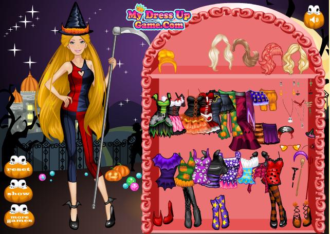 Игра Барби в хэллоуин онлайн